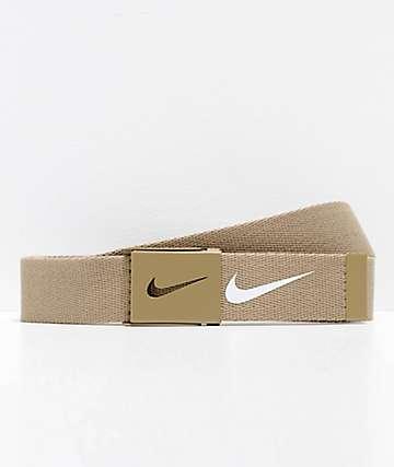 Nike Tech Essentials cinturón tejido caqui