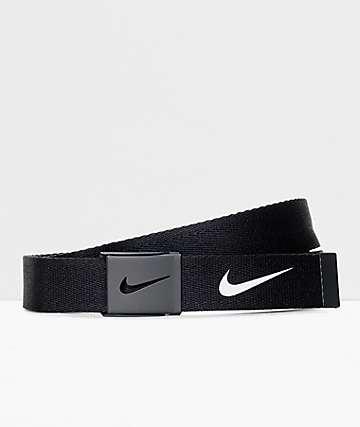 Nike Tech Essentials cinturón tejido en negro