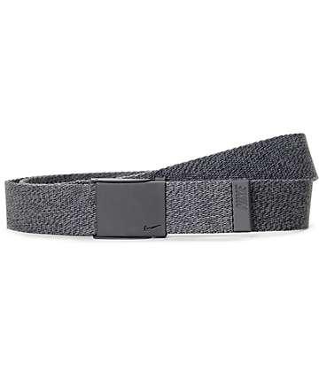 Nike Tech Essentials cinturón tejido en negro moteado