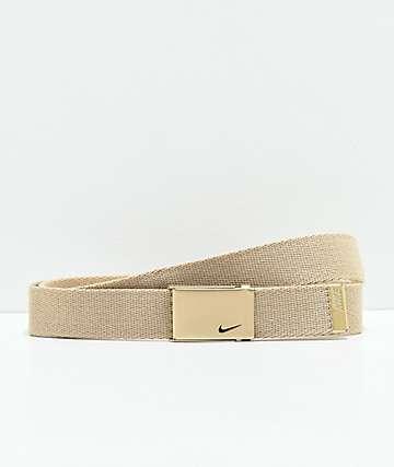 Nike cinturón metálico de oro
