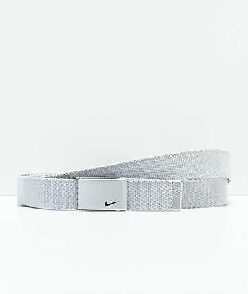 Nike cinturón metálico de plata