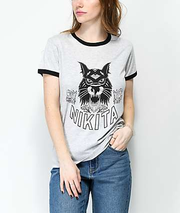 Nikita Dusk Heather Grey Ringer T-Shirt