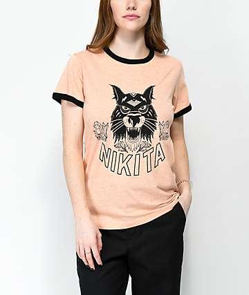 Nikita Dusk Peach Ringer T-Shirt