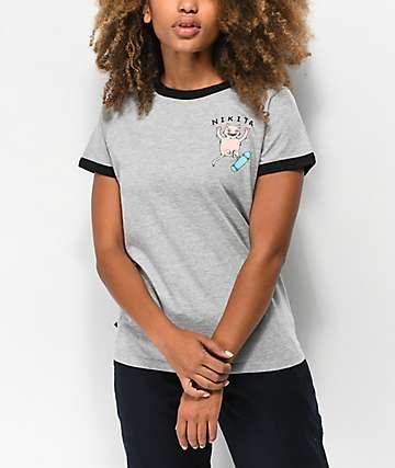 Nikita Harmonic Grey Ringer T-Shirt