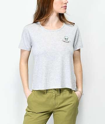 Nikita Neo Skull Heather Grey T-Shirt