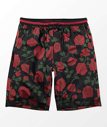 Ninth Hall  Breeze Black Rose Basketball Shorts