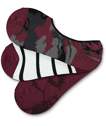 Ninth Hall 3 Pack Kylie Camo No Show Socks