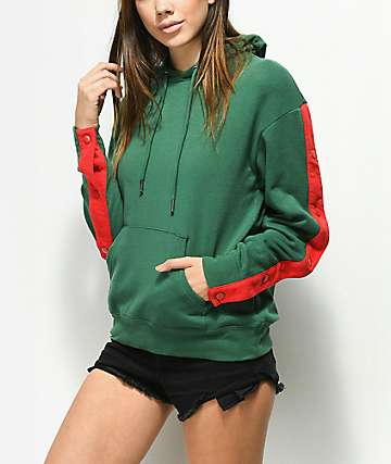 Ninth Hall Aretta Snap Hunter Green Hoodie