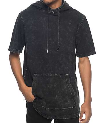 Ninth Hall Atmosphere Black Washed Short Sleeve Hoodie