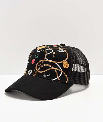 Ninth Hall Atria Black Trucker Hat