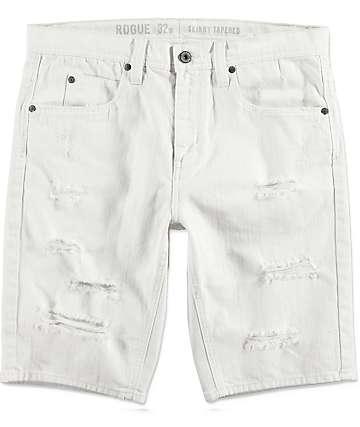 Ninth Hall Con Off White Denim Shorts