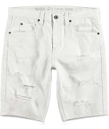 Ninth Hall Con Off White Denim Shorts