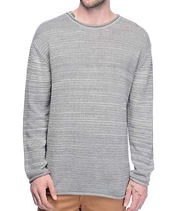 Ninth Hall Danzo Heather Grey Crew Neck Sweatshirt