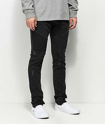 Ninth Hall Decoy Abyss Moto Black Destructed Jeans
