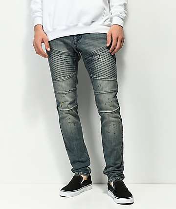 Ninth Hall Decoy Moto Clutch Dirty Blue Jeans
