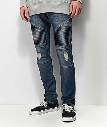 Ninth Hall Decoy Moto Throttle jeans azules
