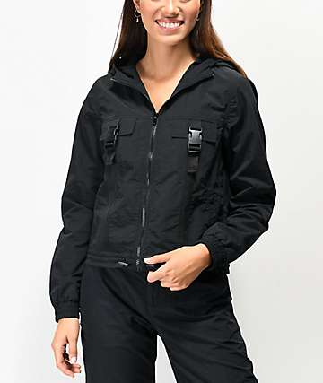 Ninth Hall Emira Black Utility Windbreaker Jacket