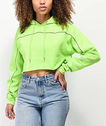 Ninth Hall Figueroa Safety Yellow Crop Hoodie