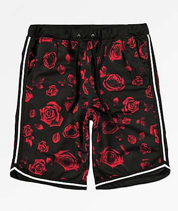 Ninth Hall Flex Rose Black Basketball Shorts