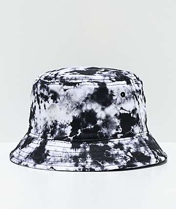 Ninth Hall Get A Trip Black & White Tie Dye Bucket Hat