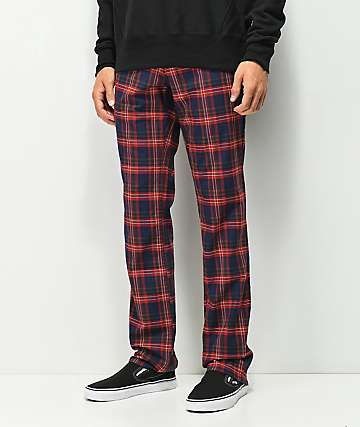 Ninth Hall Highland Red Plaid Chino Pants
