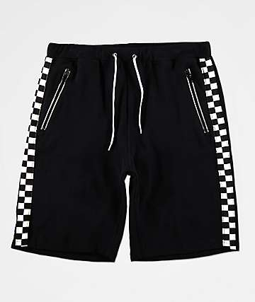 Ninth Hall Jay Pop Black & White Checkered Basketball Shorts