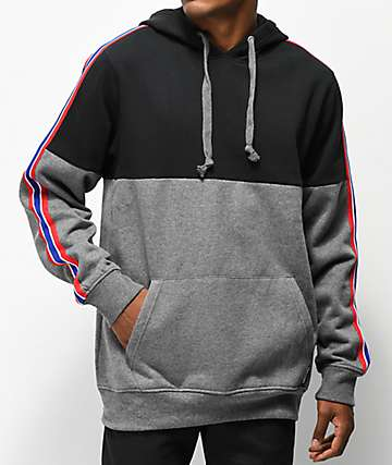 Ninth Hall Jordon Black & Grey Hoodie
