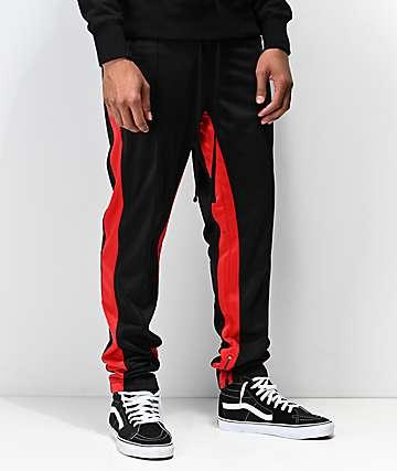Ninth Hall Korberg Black & Red Track Pants