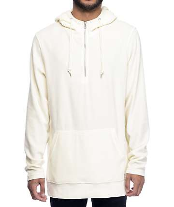 Ninth Hall Legend Velour sudadera crema con capucha