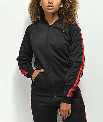 Ninth Hall Lena Black & Red Track Jacket