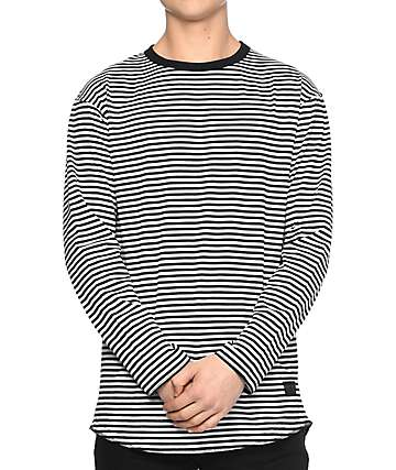 Ninth Hall Lynyrd Long Sleeve Black & White T-Shirt
