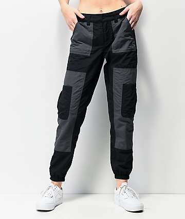 Ninth Hall Marnie Colorblock Black Cargo Jogger Pants