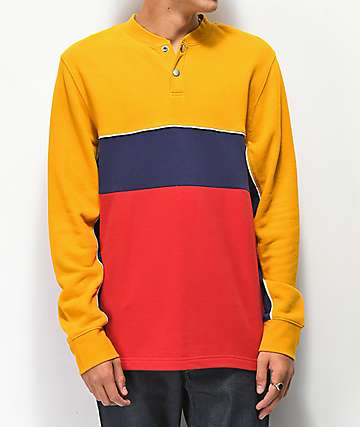 Ninth Hall Metro Block Yellow, Red & Blue Long Sleeve Knit