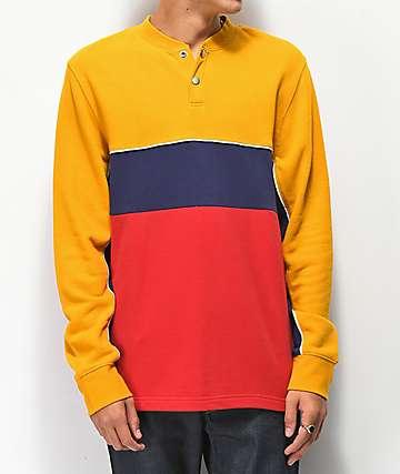 Ninth Hall Metro camiseta de manga larga amarilla, roja y azul