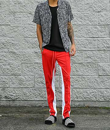 Ninth Hall Nordberg Red & White Track Pants