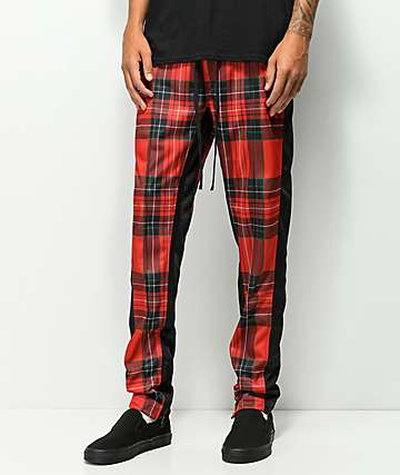 Ninth Hall Nordberg Red Plaid Track Pants