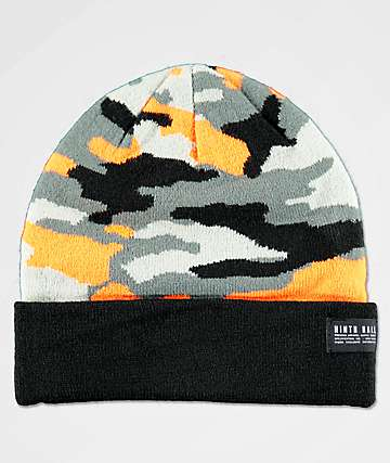Ninth Hall OMAC Orange Camo Beanie