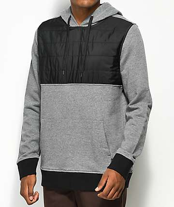 Ninth Hall Panel Grey & Black Hoodie