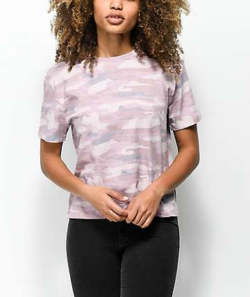 Ninth Hall Pasha Violet Camo Cropped T-Shirt
