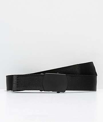 Ninth Hall Reversey Reflect Black Web Belt