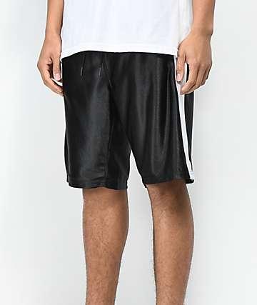 Ninth Hall Rodney shorts de baloncesto negros y blancos