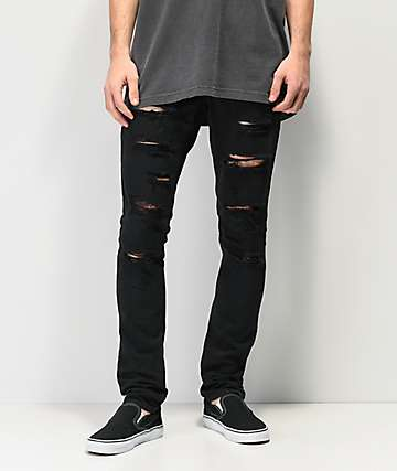 7374f0934ff Ninth Hall Rogue Black Shredded Jeans