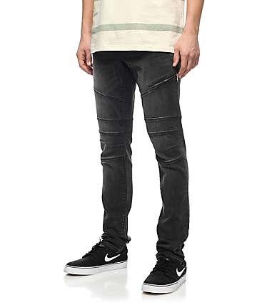 Ninth Hall Rogue Moto jeans en color carbón