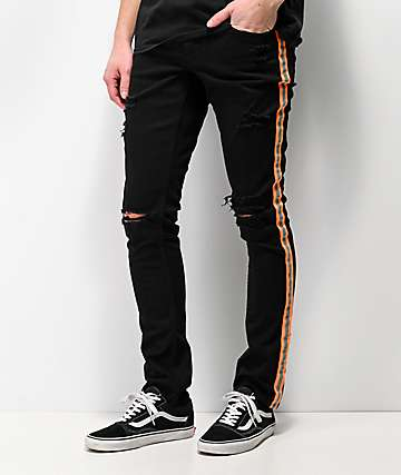 Ninth Hall Rogue Taped Skinny Black Denim Jeans