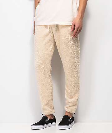 Ninth Hall Salute Cream Sherpa Jogger Pants