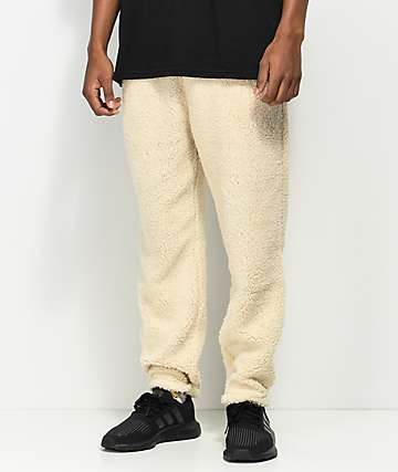 Ninth Hall Salute Off White Sherpa Jogger Sweatpants