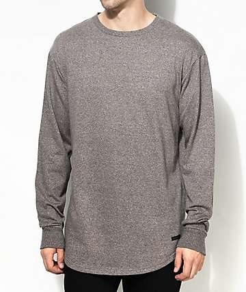 Ninth Hall Scrunch Brown Long Sleeve Knit Shirt