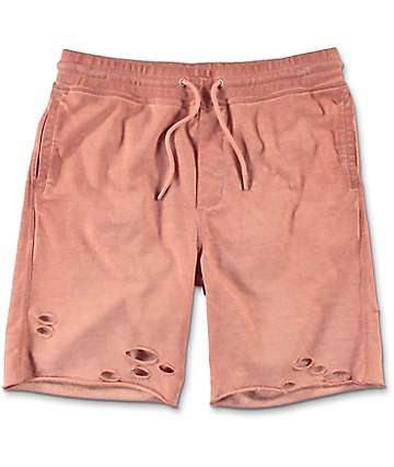 Ninth Hall Shredder Cameo Brown Destroyed Sweat Shorts