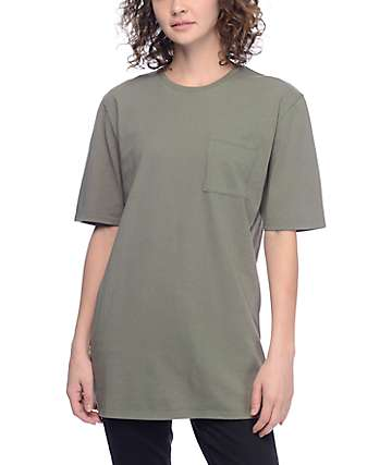 Ninth Hall Sincerely Olive Pocket T-Shirt