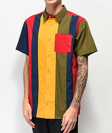 Ninth Hall Skip Multicolor Short Sleeve Button Up Shirt